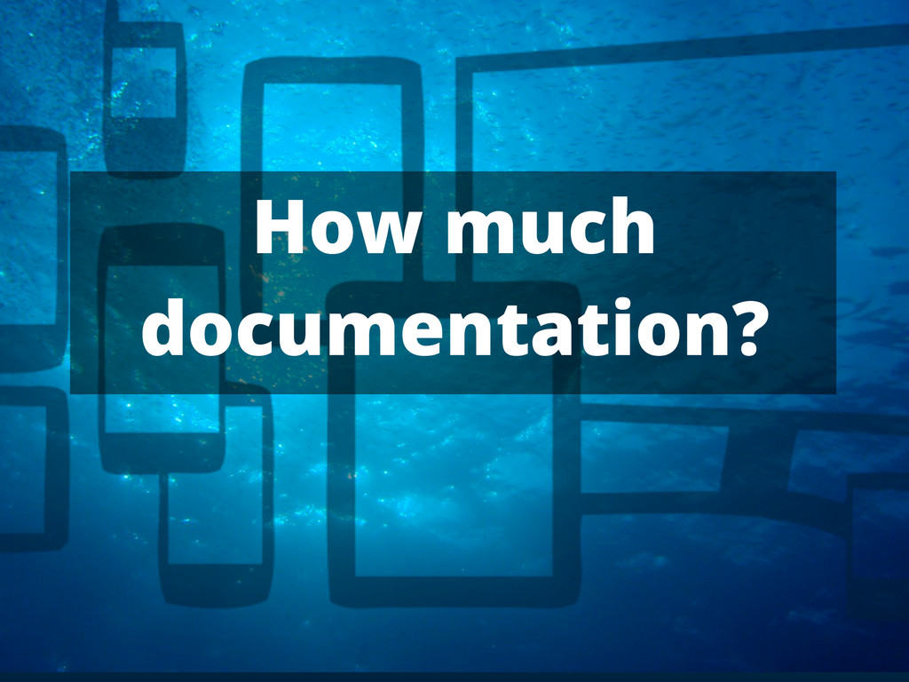 How much documentation?