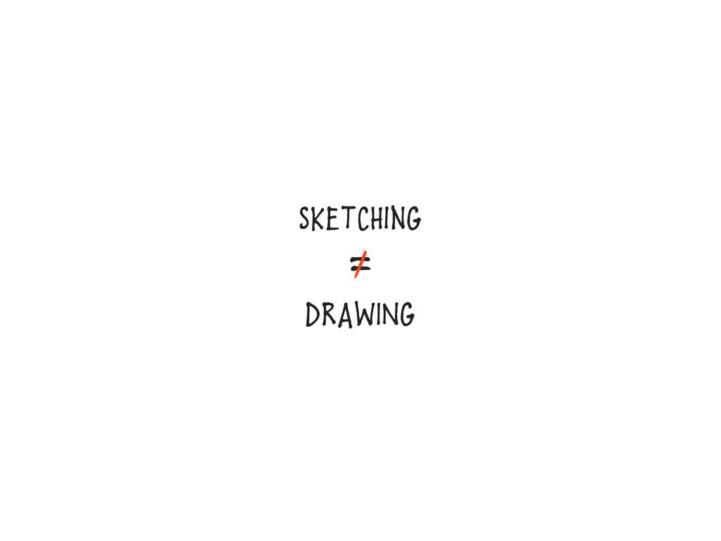 SKEtCHinG = DRAWING