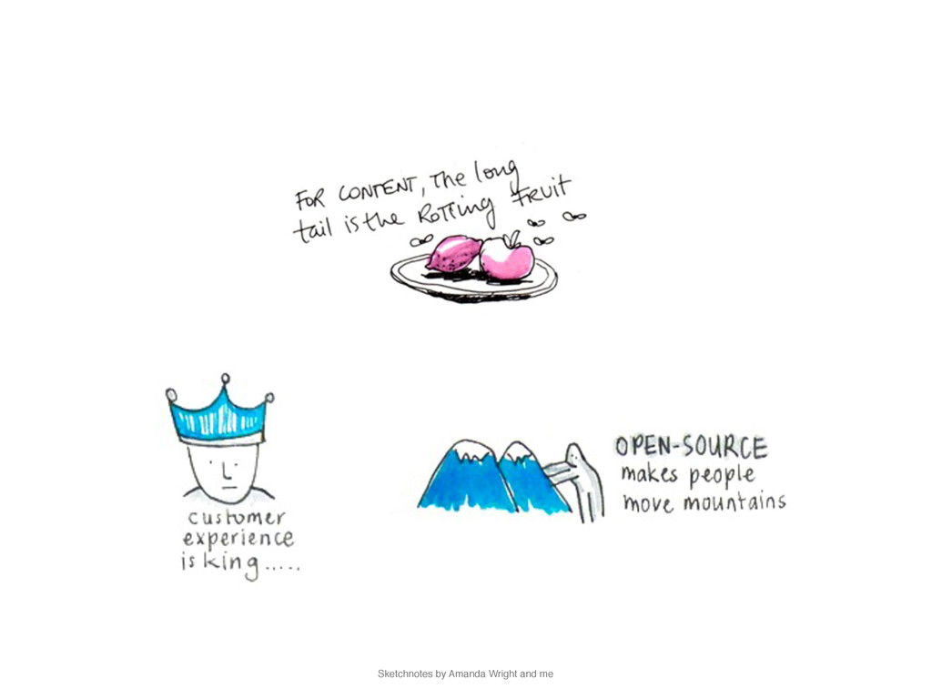 Sketchnotes by Amanda Wright and me