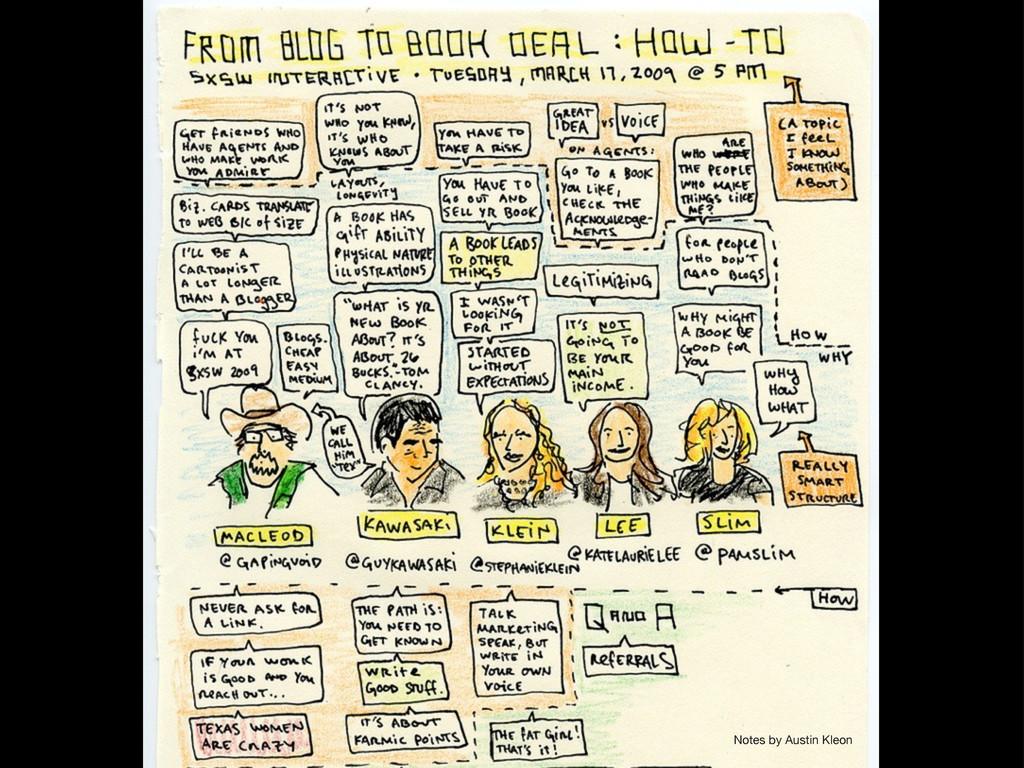 Notes by Austin Kleon