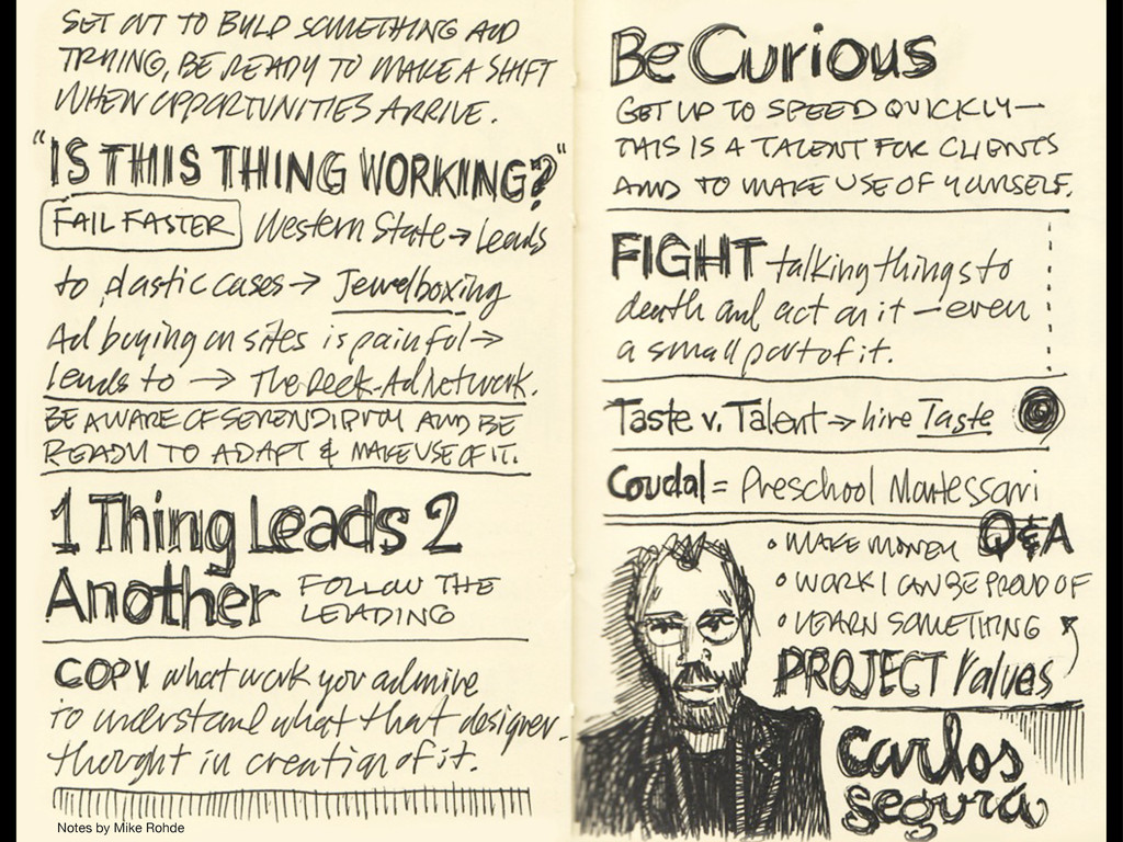 Notes by Mike Rohde