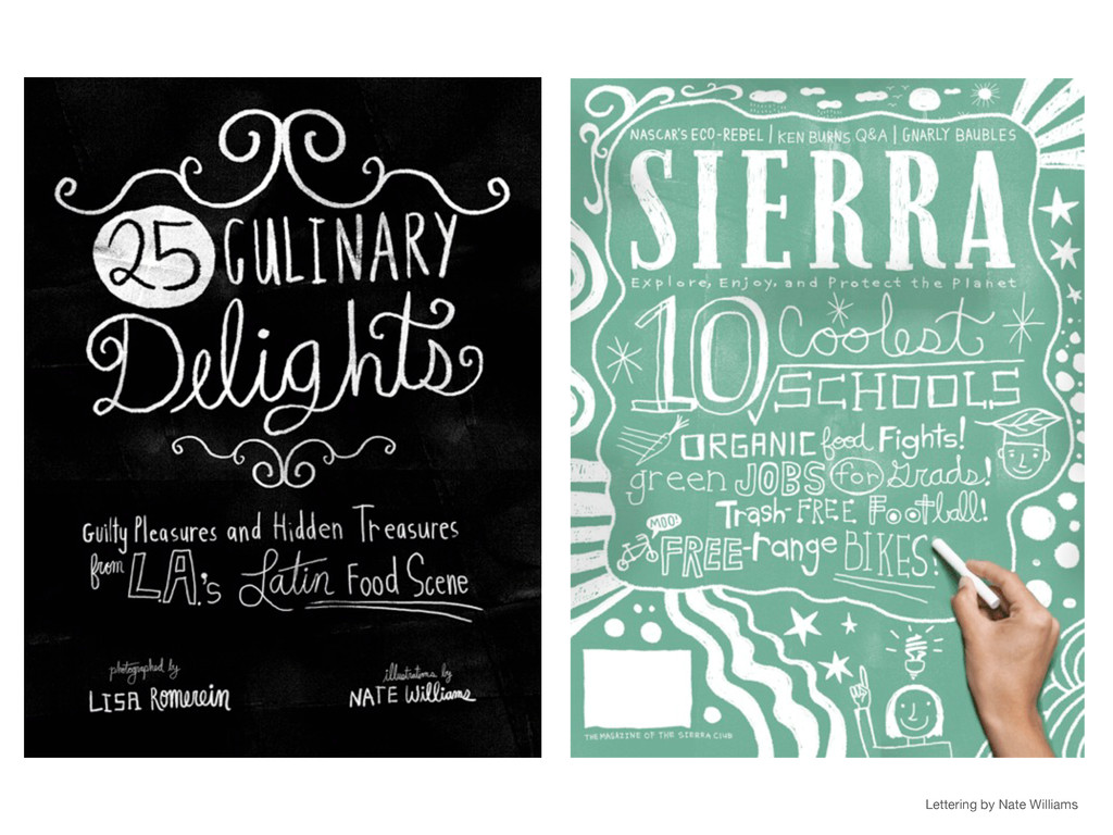 Lettering by Nate Williams