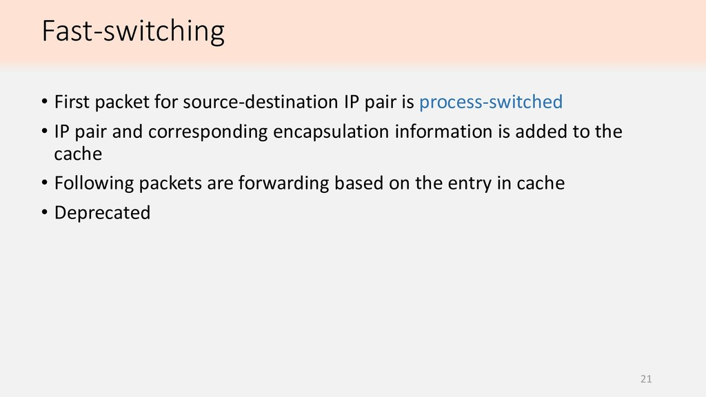 21 • First packet for source-destination IP pai...