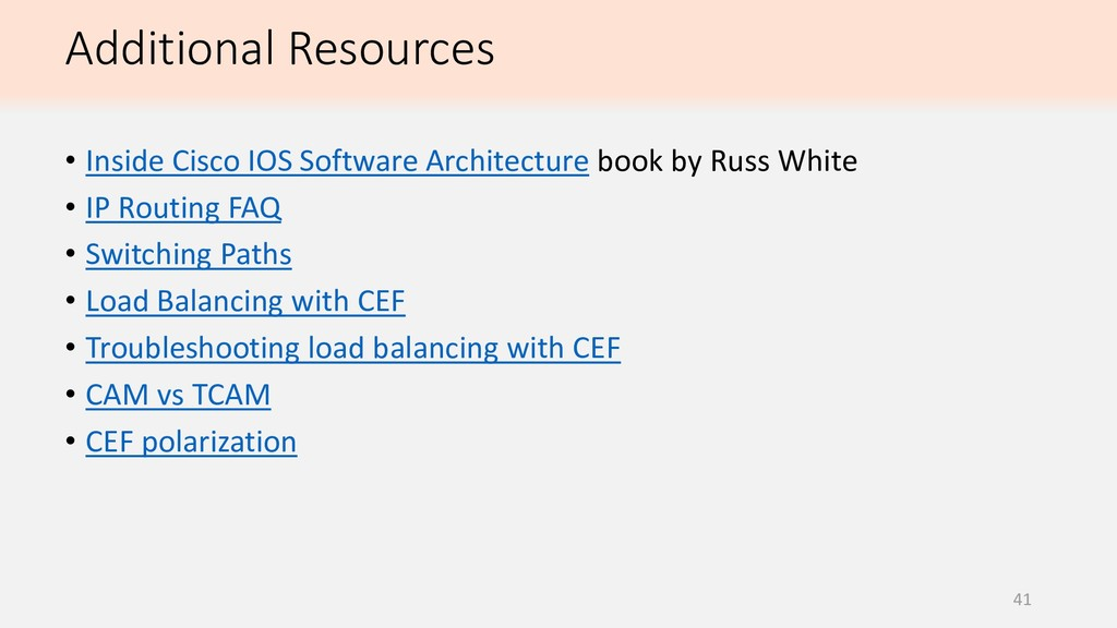 41 • Inside Cisco IOS Software Architecture boo...