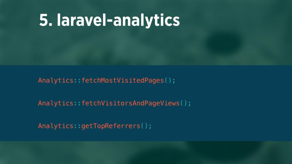 5. laravel-analytics Analytics::fetchMostVisite...