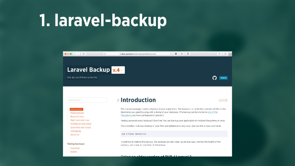 1. laravel-backup