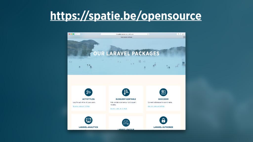https://spatie.be/opensource