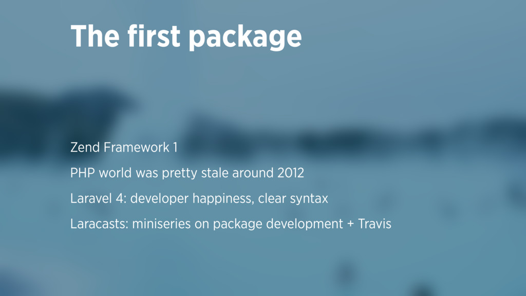 Zend Framework 1 PHP world was pretty stale aro...