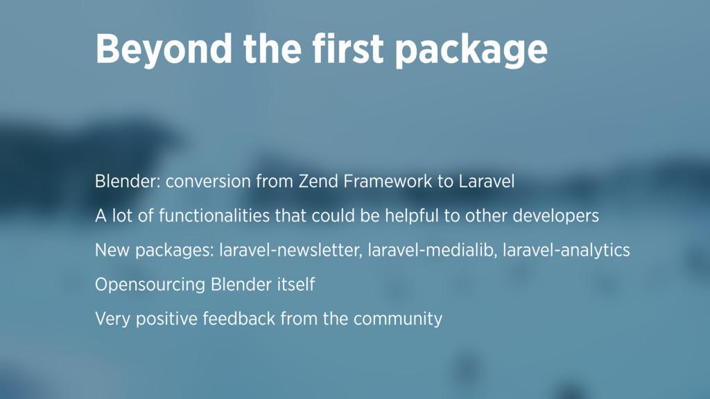 Blender: conversion from Zend Framework to Lara...