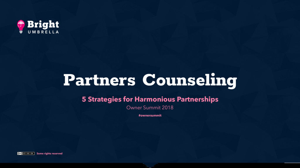 Some rights reserved Partners Counseling 5 Stra...