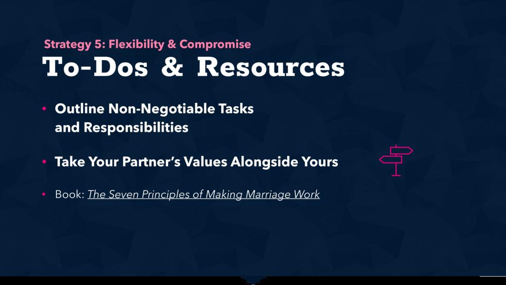 To-Dos & Resources • Outline Non-Negotiable Tas...
