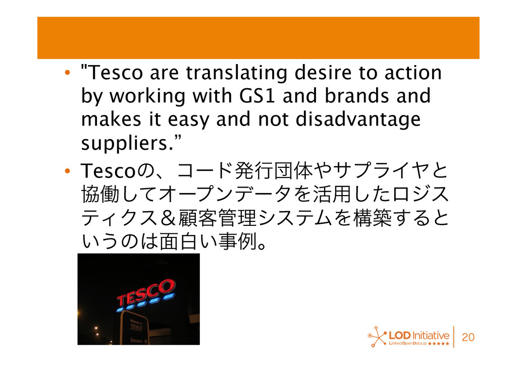 """• """"Tesco are translating desire to action by w..."""