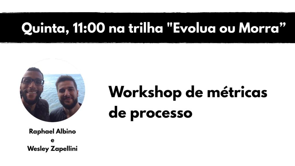 Workshop de métricas de processo Raphael Albino...