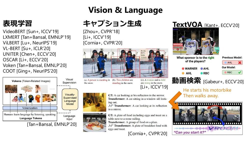 Vision & Language 表現学習 VideoBERT [Sun+, ICCV'19...