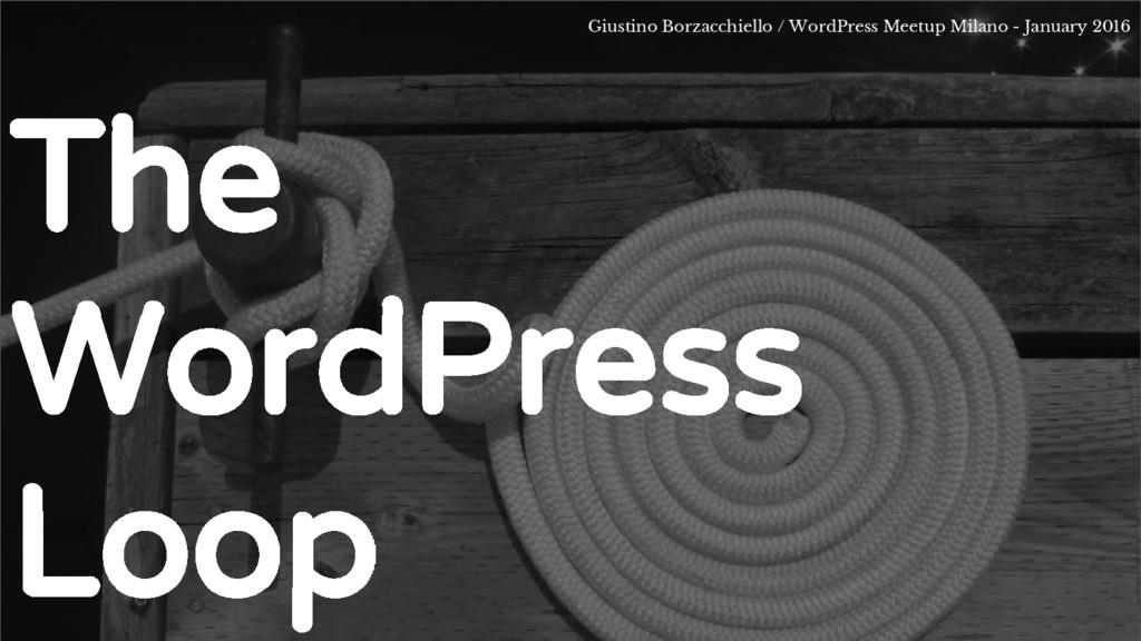 The WordPress Loop Giustino Borzacchiello / Wor...