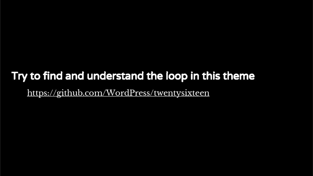 The standard Loop Try to find and understand th...