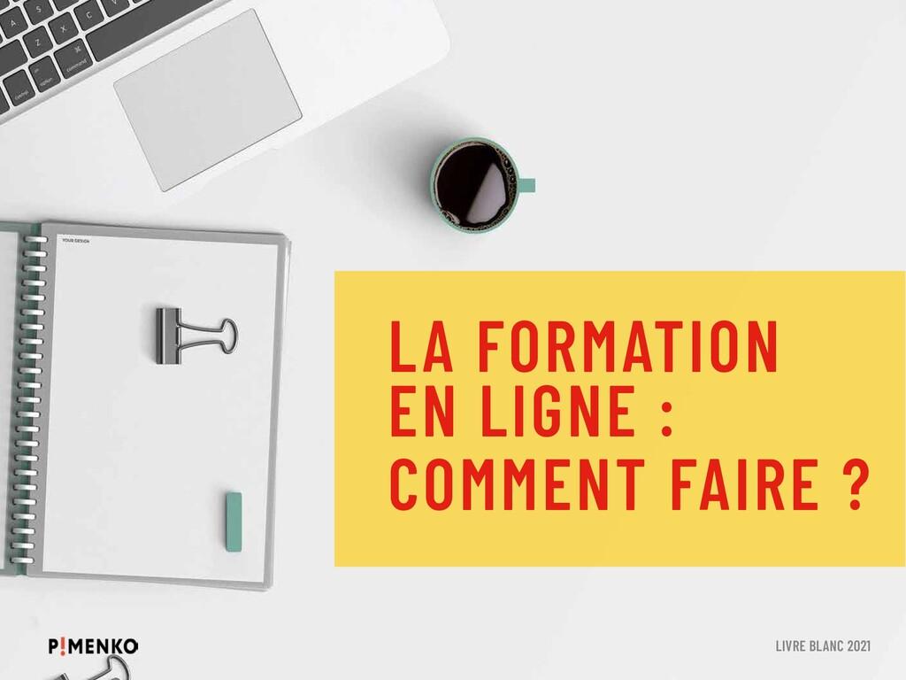 LA FORMATION EN LIGNE : COMMENT FAIRE ? LIVRE B...