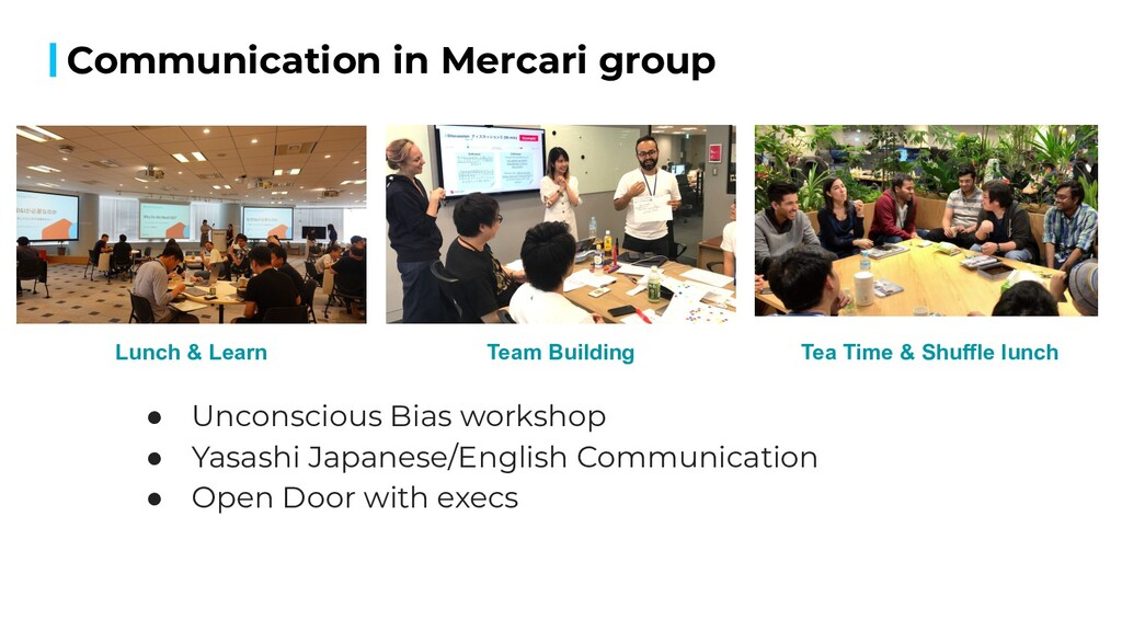 Communication in Mercari group 15 Lunch & Learn...