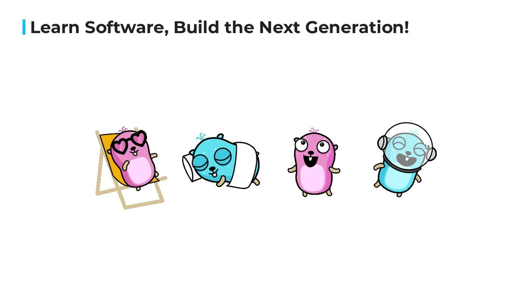 Learn Software, Build the Next Generation!