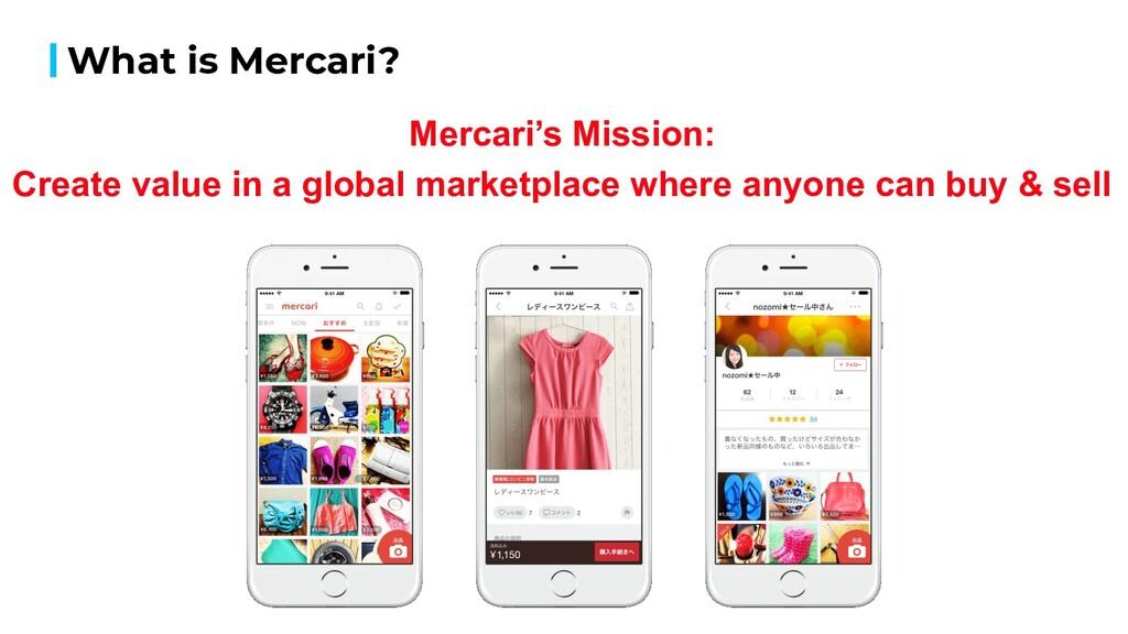What is Mercari? Source Use Mercari's Mission: ...