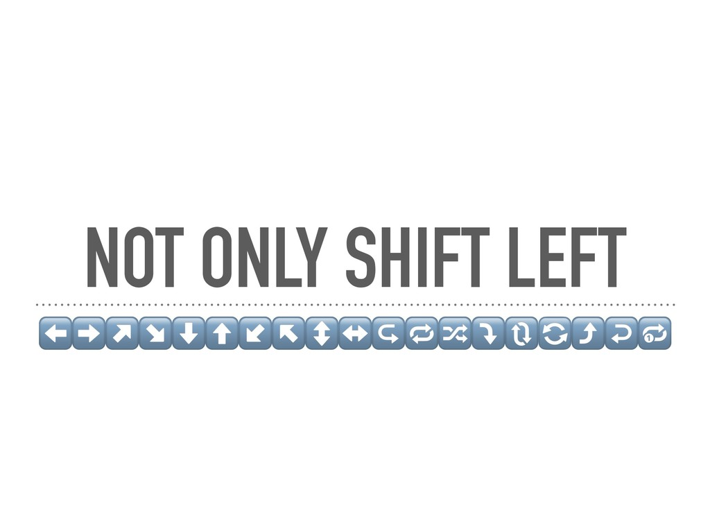NOT ONLY SHIFT LEFT ⬅➡↗↘⬇⬆↙↖↕↔↪⤵⤴↩