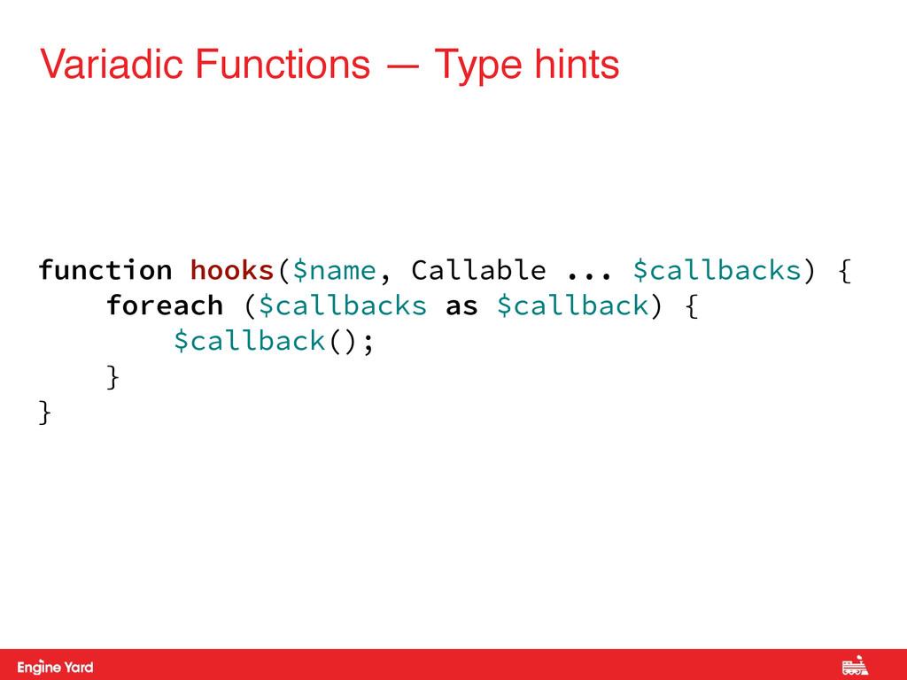 Variadic Functions — Type hints function hooks(...