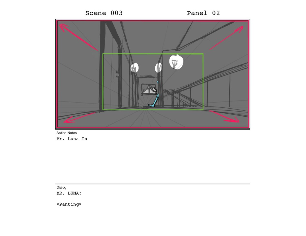 Mr. Luna In MR. LUNA: *Panting* Scene 003 Panel...