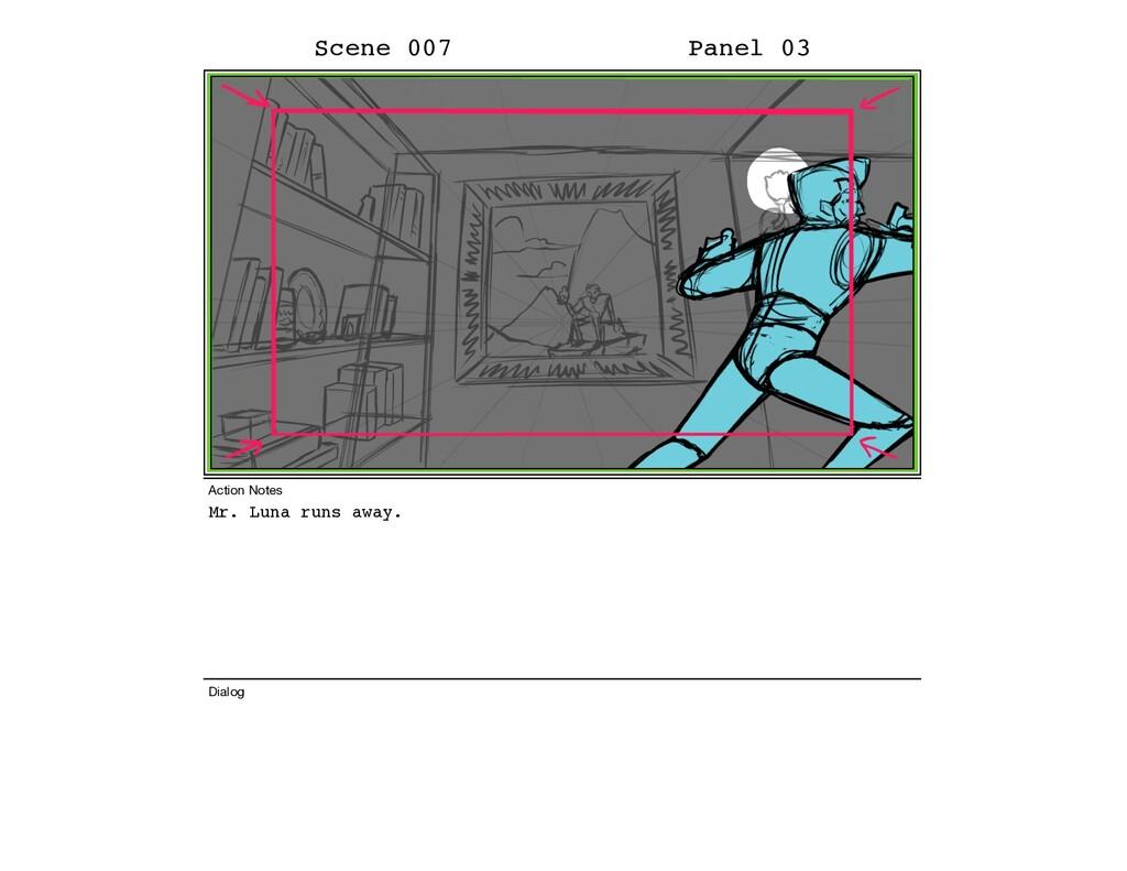 Mr. Luna runs away. Scene 007 Panel 03 Dialog A...