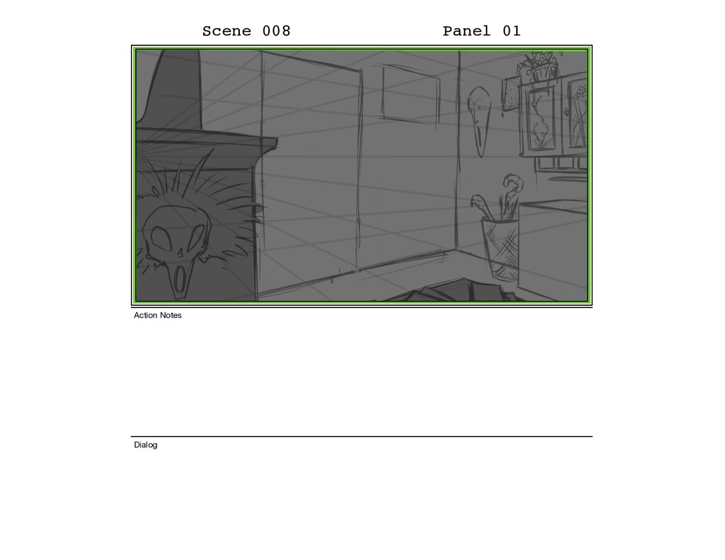 Scene 008 Panel 01 Dialog Action Notes