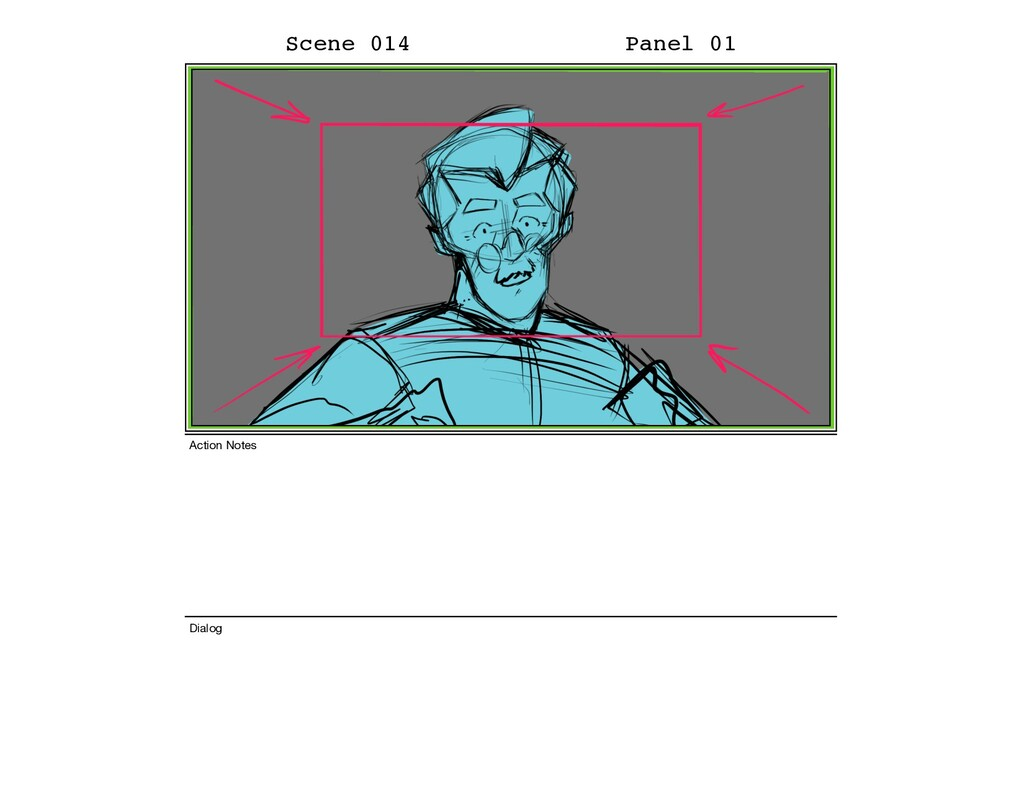 Scene 014 Panel 01 Dialog Action Notes