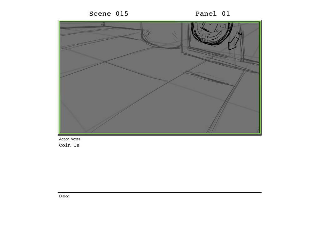 Coin In Scene 015 Panel 01 Dialog Action Notes