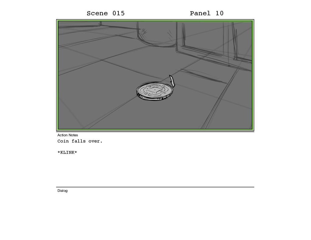 Coin falls over. *KLINK* Scene 015 Panel 10 Dia...