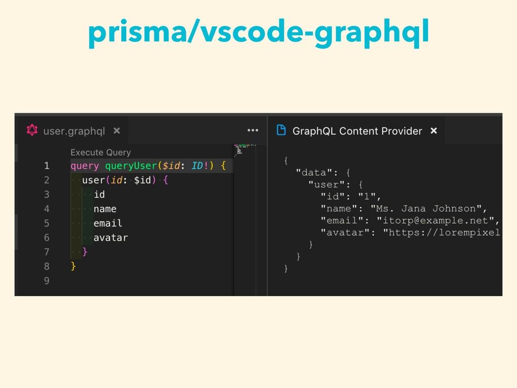 prisma/vscode-graphql