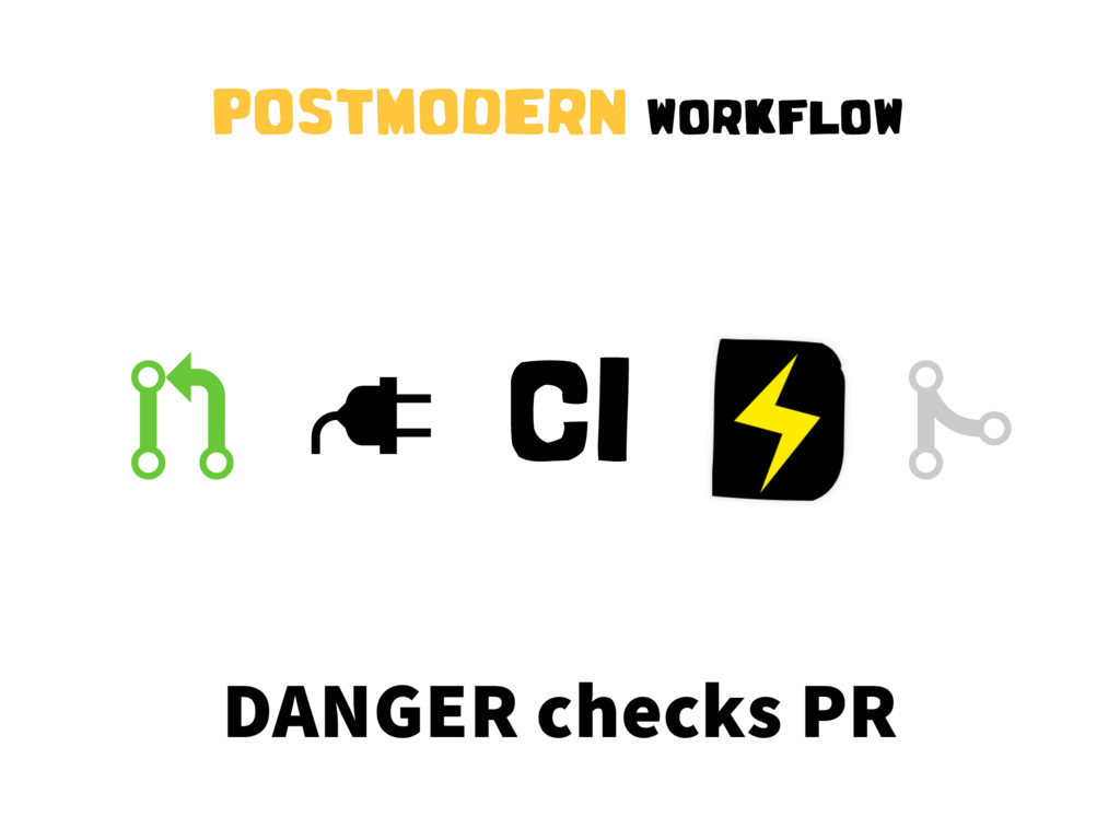 """ CI # DANGER checks PR POSTMODERN WORKFLOW !"