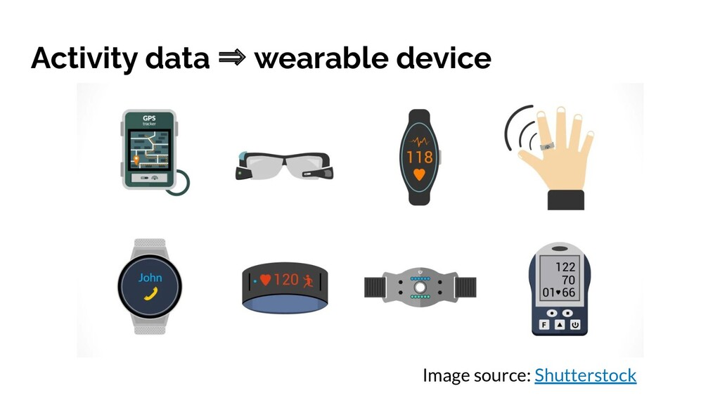 Activity data ⇒ wearable device Image source: S...