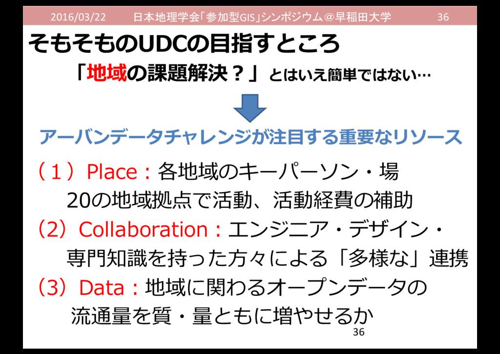 2016/03/22 日本地理学会「参加型GIS」シンポジウム@早稲田大学 36 「地域の課題...