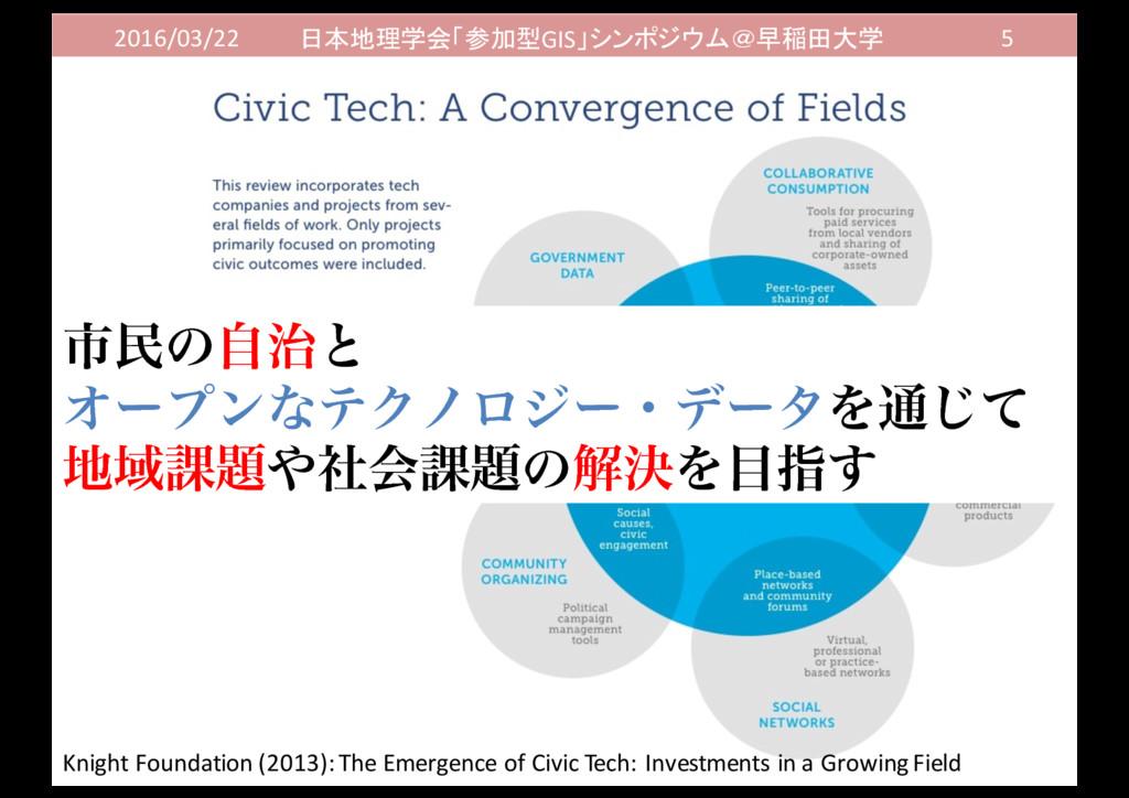 2016/03/22 日本地理学会「参加型GIS」シンポジウム@早稲田大学 5 ࢢຽͷࣗͱ ...