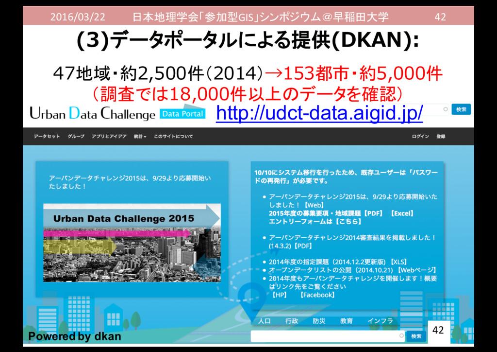 2016/03/22 日本地理学会「参加型GIS」シンポジウム@早稲田大学 42 (3)データ...