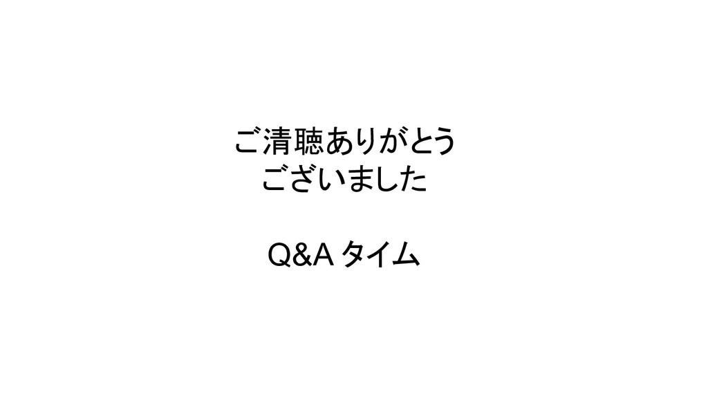 ご清聴ありがとう ございました Q&A タイム