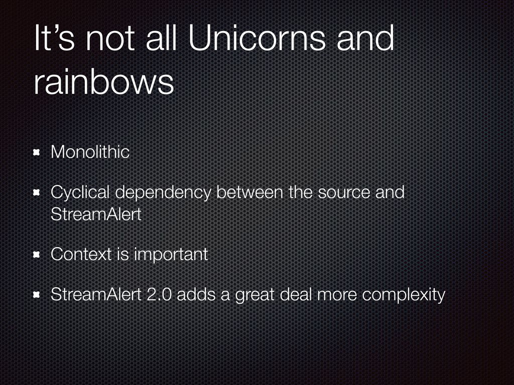It's not all Unicorns and rainbows Monolithic C...