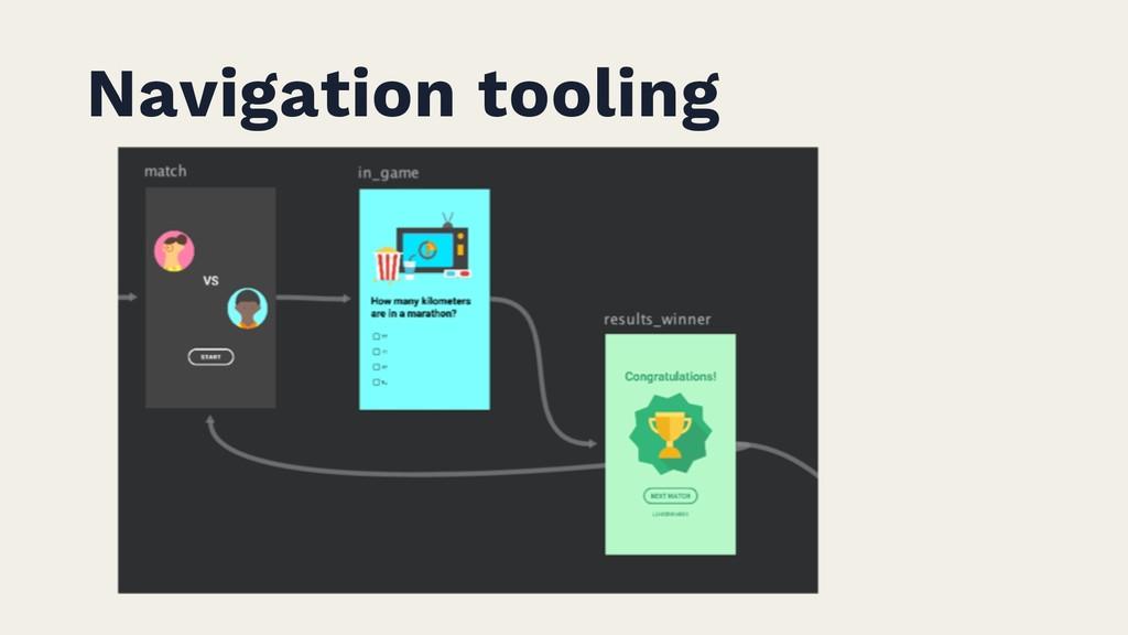 Navigation tooling