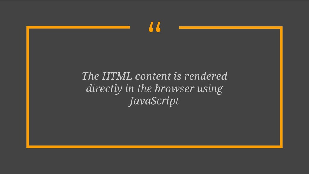 """"""" The HTML content is rendered directly in the ..."""