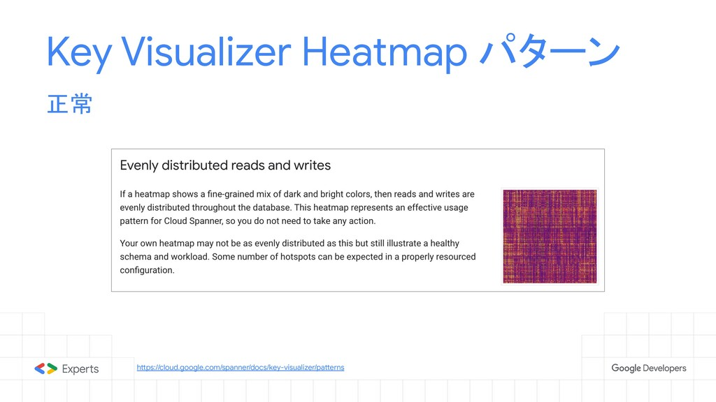Key Visualizer Heatmap パターン 正常 https://cloud.go...