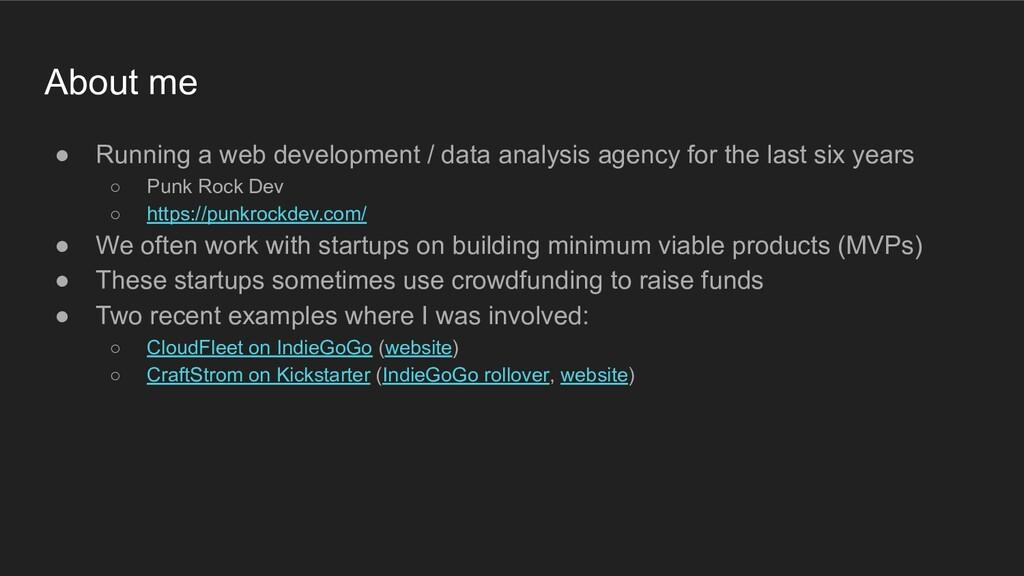 ● Running a web development / data analysis age...