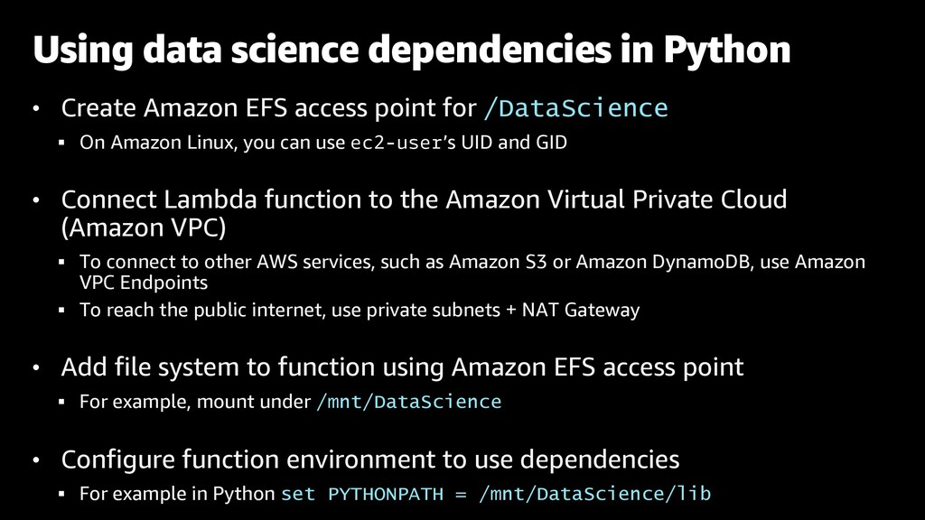• Create Amazon EFS access point for /DataScien...