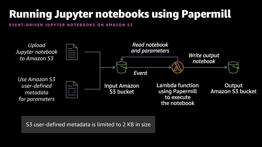Running Jupyter notebooks using Papermill E V E...