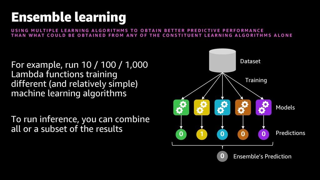 For example, run 10 / 100 / 1,000 Lambda functi...