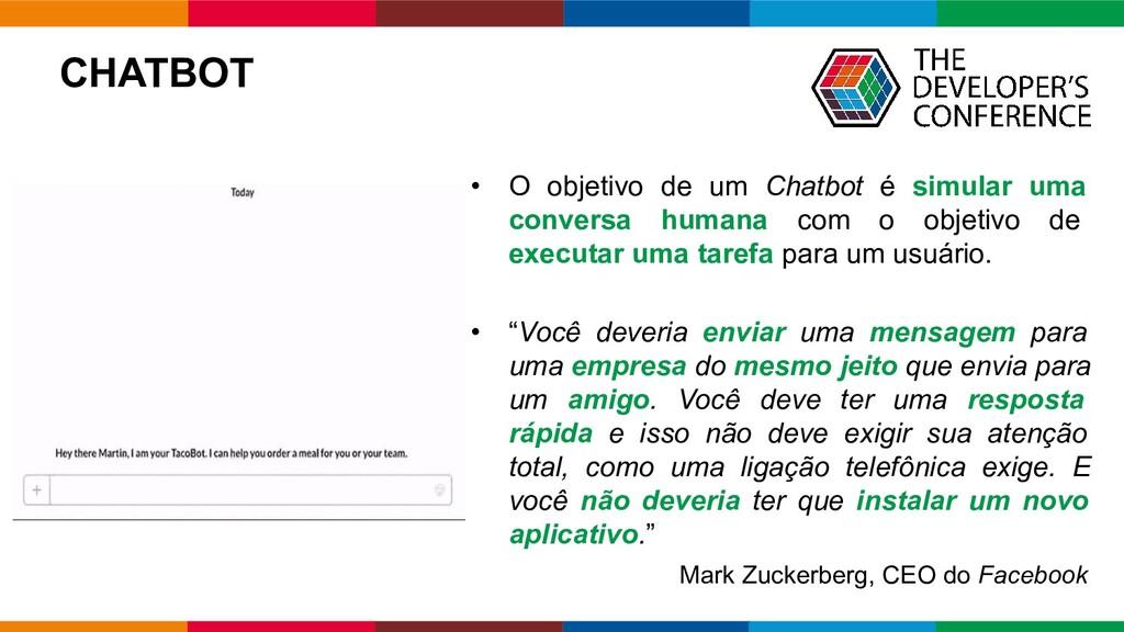 Globalcode – Open4education CHATBOT • O objetiv...