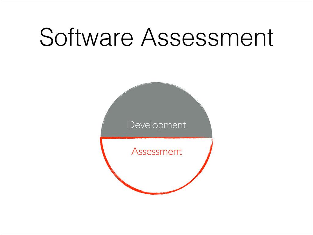 Software Assessment Development Assessment