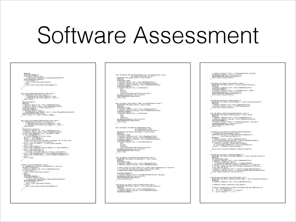 Software Assessment